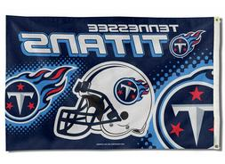 TENNESSEE TITANS FLAG 3'X5' NFL HELMET BANNER: FREE SHIPPING