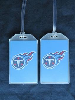TENNESSEE TITANS FLAMING LOGO LUGGAGE TAGS - SET OF 2 - TITA