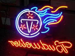 TENNESSEE TITANS FOOTBALL JERSEY CARD Neon Sign Light Wall D