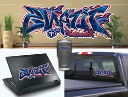 Tennessee Titans Graffiti Vinyl Vehicle Car Laptop Wall Stic