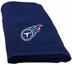 Tennessee Titans Hand Towel measures 15 x 26 inches