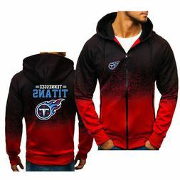 Tennessee Titans Hoodie Sports Zipper Sweatshirt Casual Hood