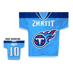 Tennessee Titans Jersey Banner Flag 2 Sided NFL Football
