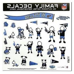 Tennessee Titans Large Family Decals 25 Piece -NEW Auto Car