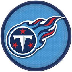 NFL TENNESSEE TITANS LARGE PAPER PLATES  ~ Football Birthday