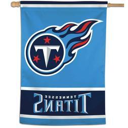 "TENNESSEE TITANS LOGO 28""X40"" BANNER FLAG BRAND NEW WINCRAFT"