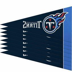 "Tennessee Titans Mini Pennant Banner Flags 4"" x 9"" Fan Cave"