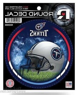 "Tennessee Titans New Field Design 4"" Round Decal Bumper Stic"