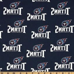 Tennessee Titans NFL 100% Cotton Fabric-$8.99/yard