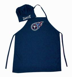 TENNESSEE TITANS NFL APRON & CHEF'S HAT SET BARBECUE TAILGAT