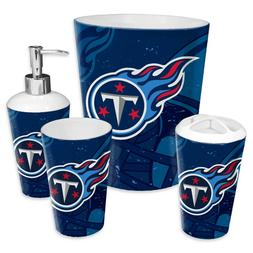 Tennessee Titans NFL Bathroom Set 4-Piece Wastebasket Tumble