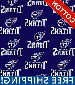 "Tennessee Titans NFL Cotton Fabric - 60"" Wide - Style# 6037"