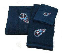 Tennessee Titans NFL 3 PC Embroidered Bath Towel Gift Set
