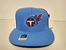 REEBOK TENNESSEE TITANS NFL FITTED BASEBALL HAT CAP BLUE WHI