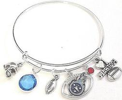 Tennessee Titans  NFL Football Charm Bangle Bracelet FAST SH