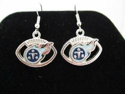 Tennessee Titans NFL Football Team Dangle Earrings - Silver