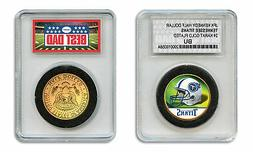 TENNESSEE TITANS NFL *GREATEST DAD* JFK 24KT Gold Clad Coin
