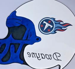 Tennessee Titans NFL Helmet Wall Plaque Personalized Wall De
