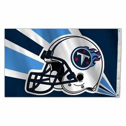 TENNESSEE TITANS NFL LICENSED 3' X 5'  HELMET FLAG BANNER FR