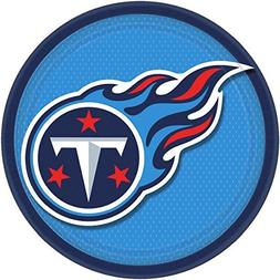 NFL Party Tennessee Titans Round Plates Tableware, 8 Pieces,