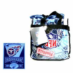 Tennessee Titans NFL Team Throw Blanket and Tote Bag Set LAS
