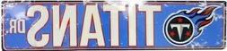 """Tennessee Titans NFL Titans Drive """"Distressed"""" Metal Street"""