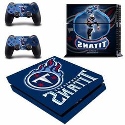 Tennessee Titans NFL Vinyl Skin Decals Stickers for PS4 Cons