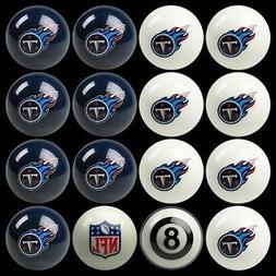 NFL Tennessee Titans Pool Ball Billiards Balls Set w/ FREE S