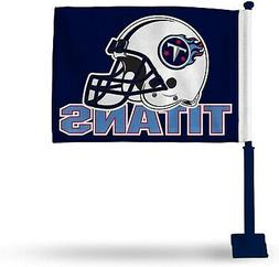 Tennessee Titans Premium 2-sided Car Flag w/NAVY Pole Banner