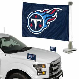 Tennessee Titans Set of 2 Ambassador Style Car Flags - Trunk