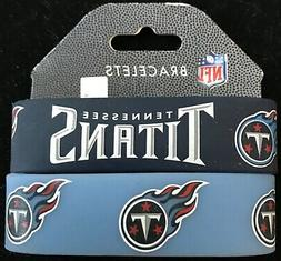 TENNESSEE TITANS SILICONE WRIST BANDS BRACELETS NEW 2 PACK