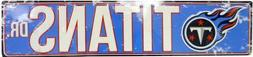"TENNESSEE TITANS STREET METAL 24 X 5.5"" SIGN DRIVE NFL DR RO"