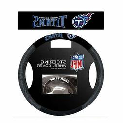 TENNESSEE TITANS SUEDE MESH CAR STEERING WHEEL COVER NFL FOO