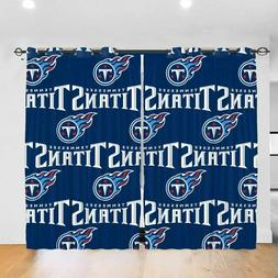 Tennessee Titans Thicken Blackout Curtains Panels Fan Therma