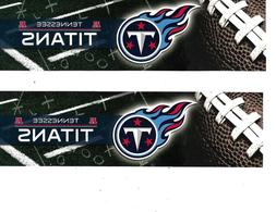 """TENNESSEE TITANS TWO 4"""" X 11"""" ACRYLIC BUMPER STICKERS"""