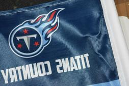 Tennessee Titans TWO CAR FLAGS SPECIAL OFFER /Ships Same Day