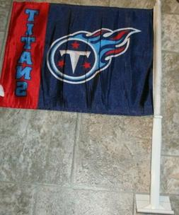 Tennessee Titans TWO SIDED LOGO CAR FLAG ! FREE SHIPPING ! F