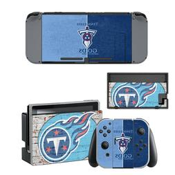 tennessee titans vinyl skin for nintendo switch