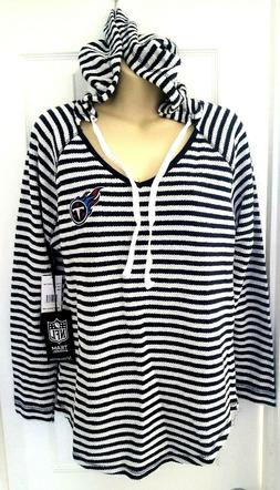 TENNESSEE TITANS Womens Hoodie Size Medium Knit Top Embroide