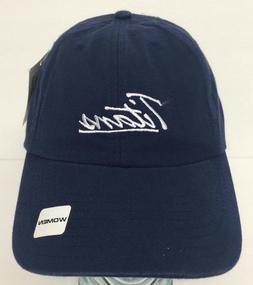 Tennessee Titans NFL Womens Navy Script Logo Hat Cap NWT Adj