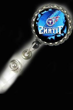 Tennessee Titans  work Retractable Reel ID Badge Holder secr