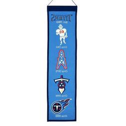 "Tennessee Titans Year Team Logo 8"" x 32"" Heritage Wool Banne"