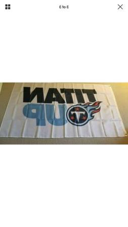 TITAN UP Tennessee Titans Football Large Outdoor Banner Flag