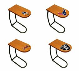 TV Tray End Table Oak Finish with NFL Team Logo Decal Slide-