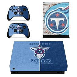 XBOX ONE X - Tennessee Titans - Vinyl Skin  + 2 Controller S